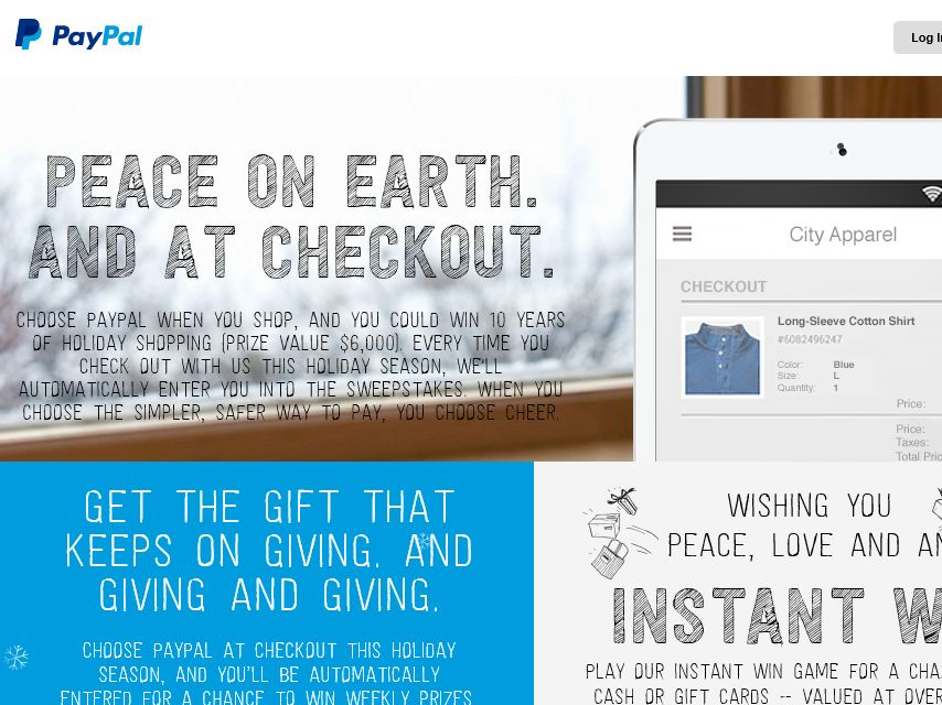"PayPal Holiday ""Choose Cheer"" Promotion"