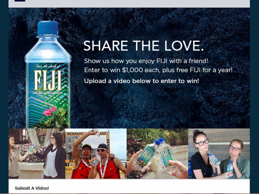 """FIJI Water """"Share the Love"""" Contest"""