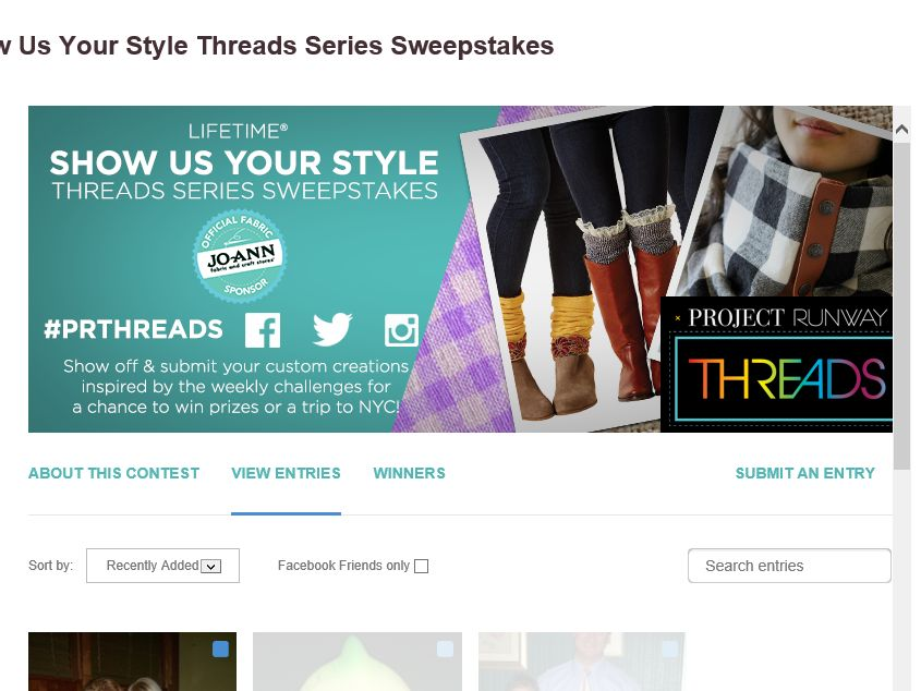 Lifetime Show Us Your Style Threads Series Sweepstakes