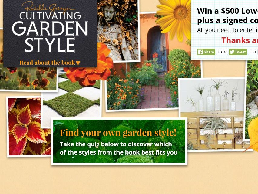 Cultivating Garden Style Sweepstakes
