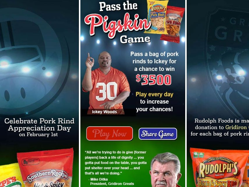 Rudolph Foods Pass the Pigskin Game Sweepstakes