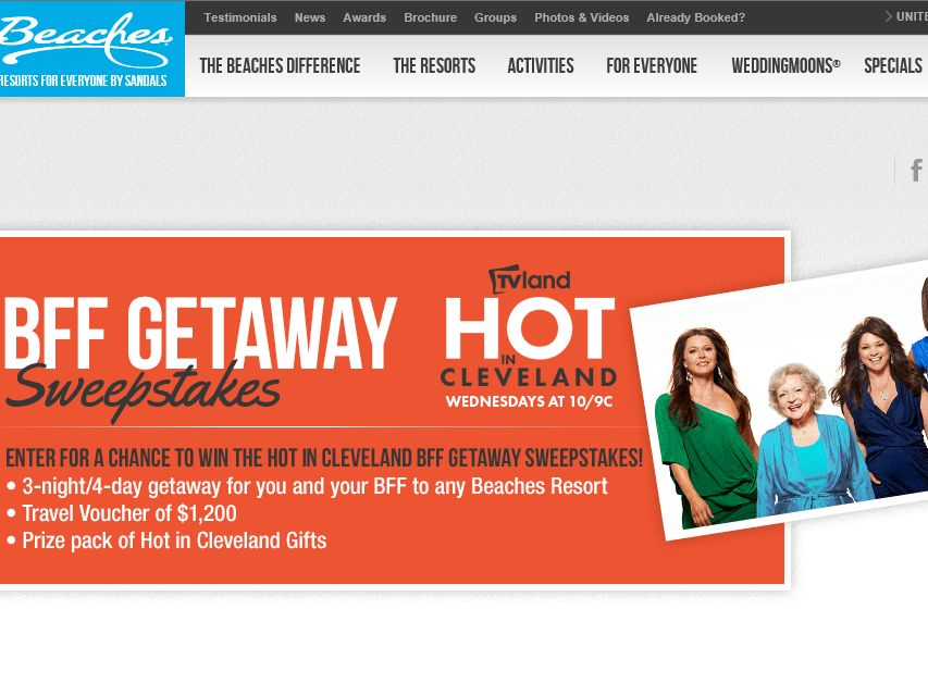 """The """"Hot In Cleveland BFF Getaway"""" Sweepstakes"""