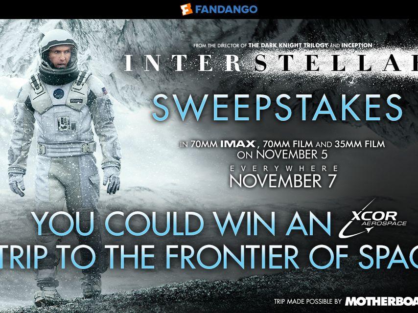 Fandango's Interstellar Sweepstakes