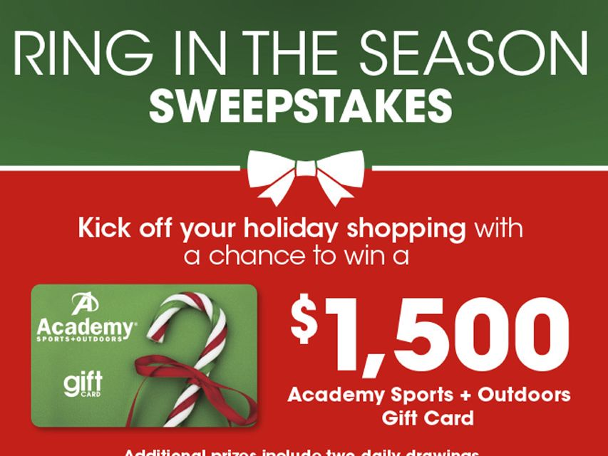 Academy Ring in the Season Sweepstakes