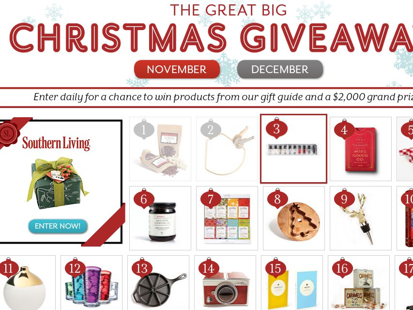 "The Southern Living's ""The Great Big Christmas Giveaway"" Sweepstakes"