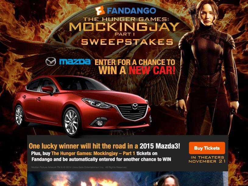 "Fandango´s ""The Hunger Games: Mockingjay – Part 1"" Car Sweepstakes"