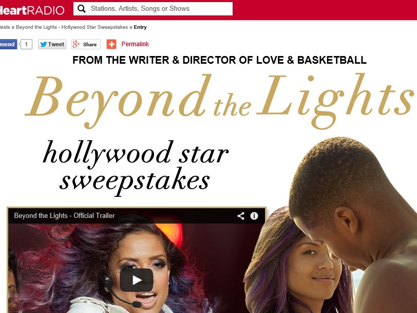 iHeartRadio Beyond the Lights Premiere Sweepstakes