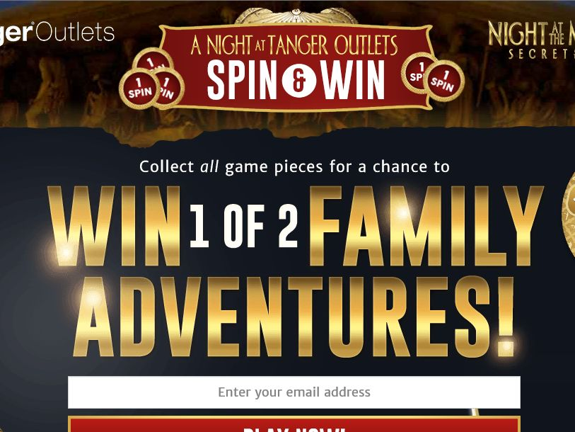 A Night at Tanger Outlets Sweepstakes
