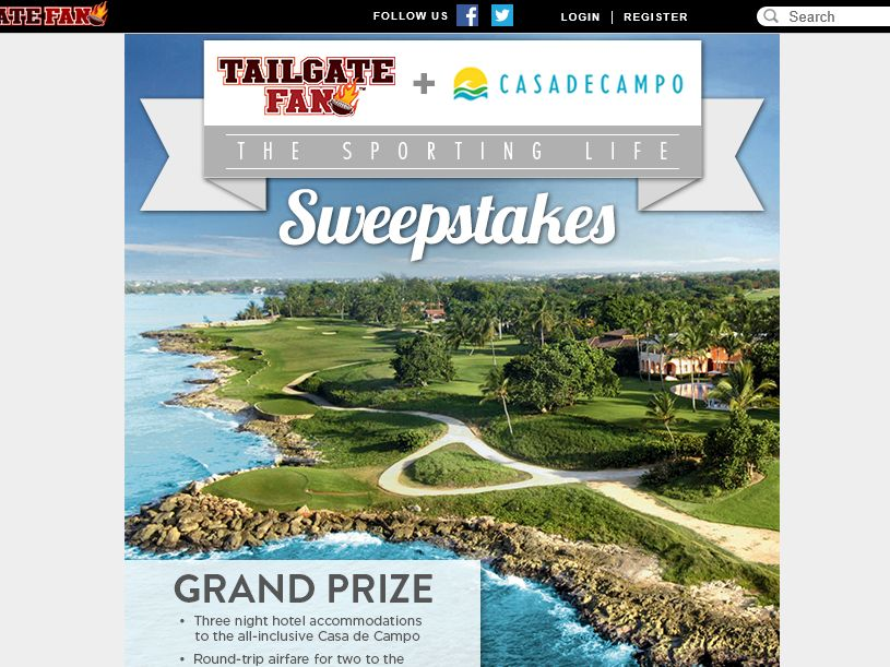 Tailgate Fan Sporting Life Sweepstakes
