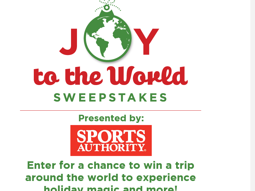Hallmark Channel Joy To The World Sweepstakes