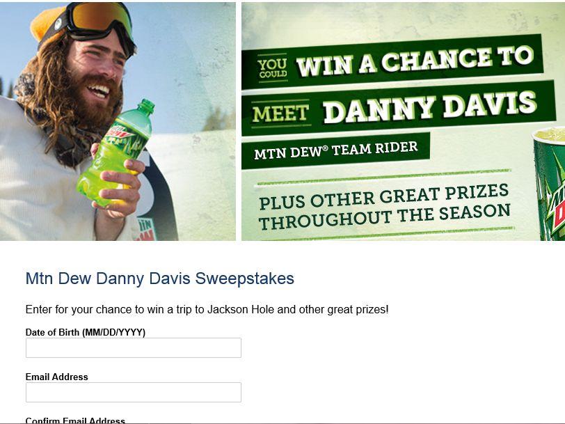 MTN DEW Danny Davis Sweepstakes