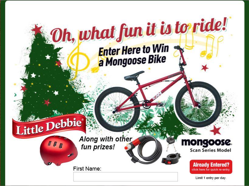 Little Debbie/Mongoose Weekly Giveaways