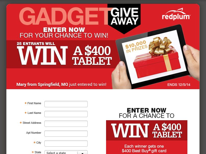 The RedPlum GADGET Giveaway