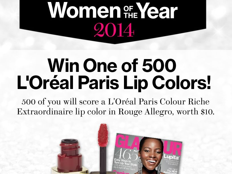 Glamour's Women of the Year Lipstick 2014 Sweepstakes