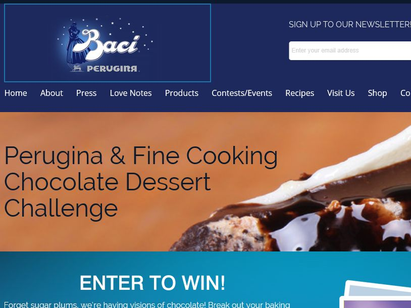 The Perugina & Fine Cooking Chocolate Dessert Challenge Sweepstakes