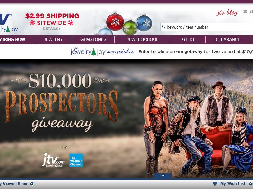 Jewelry Television and The Weather Channel Prospectors Giveaway