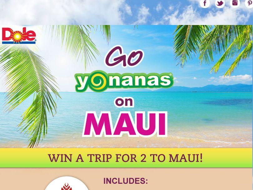 Go Yonanas on Maui Sweepstakes