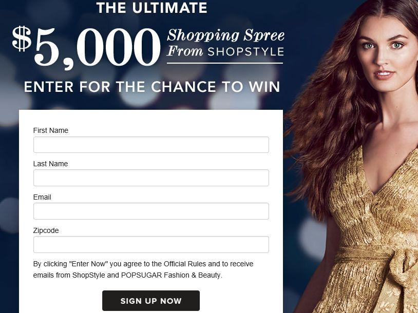 POPSUGAR Inc. ShopStyle Shopping Spree Sweepstakes