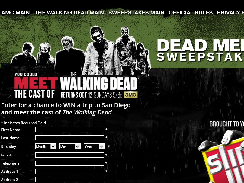 AMC Dead Meet Sweepstakes