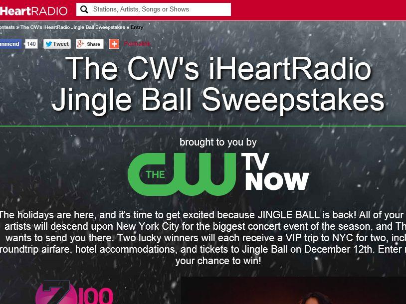 The CW's iHeartRadio Jingle Ball Sweepstakes