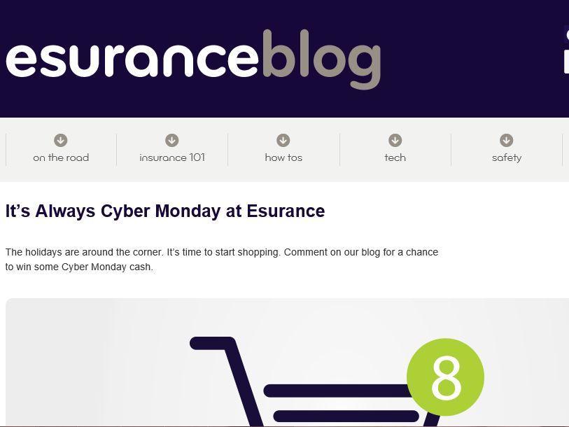 Esurance Cyber Monday Sweepstakes