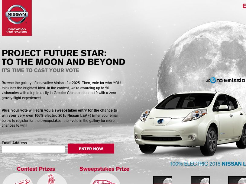 Nissan Project Future Star: To the Moon and Beyond Sweepstakes