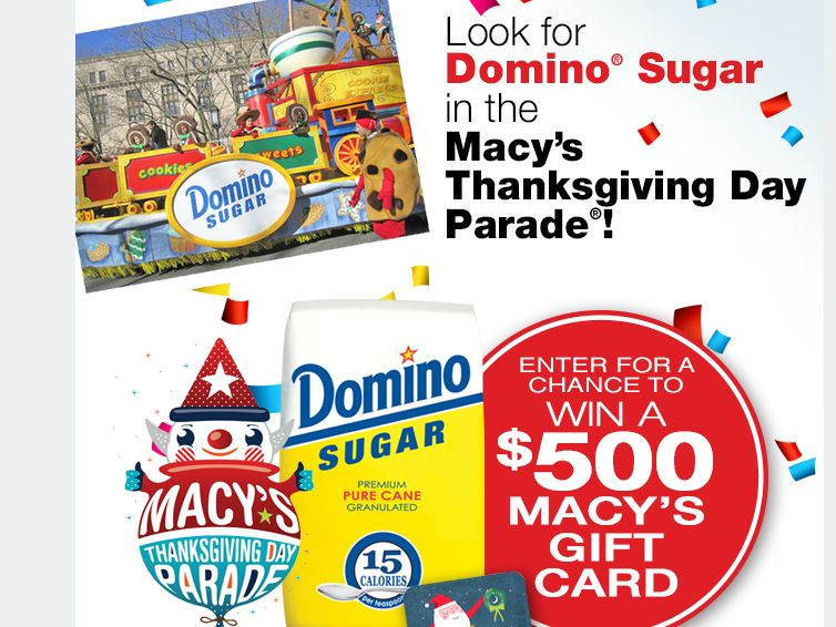 Domino Sugar Macy's Thanksgiving Day Parade Giftcard Giveaway
