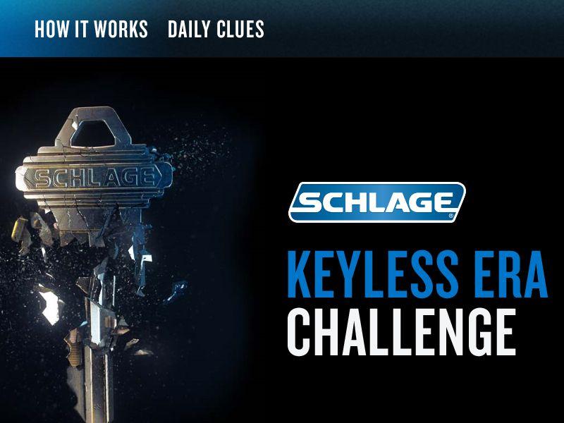 The Keyless Era Challenge Sweepstakes
