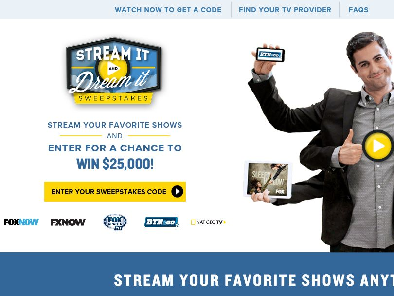 FOX Stream It and Dream It Sweepstakes