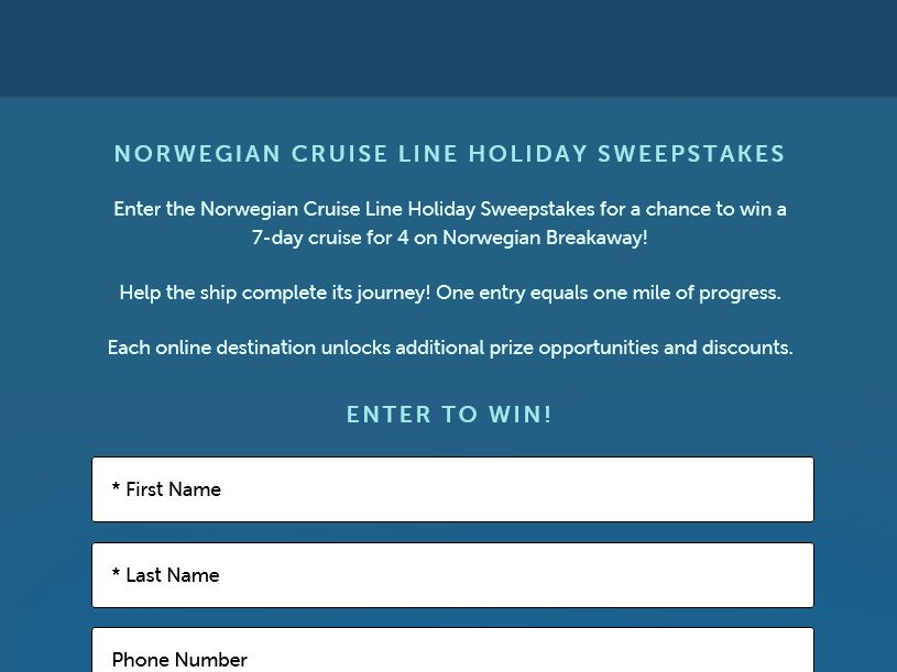 Norwegian Holiday Sweepstakes