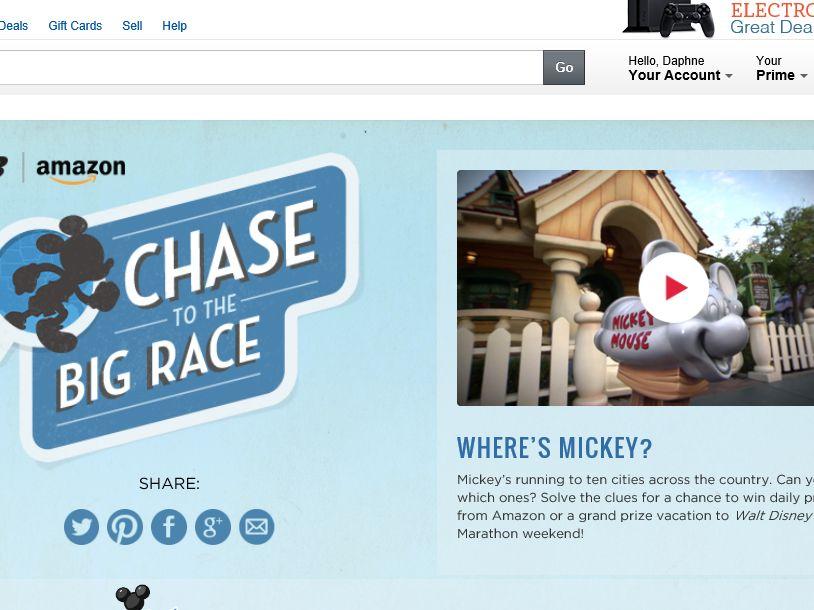 "Amazon.com and New Balance ""Chase To The Big Race"" Sweepstakes"