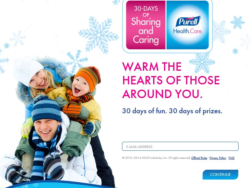 PURELL Advanced 30 Days of Sharing and Caring Sweepstakes