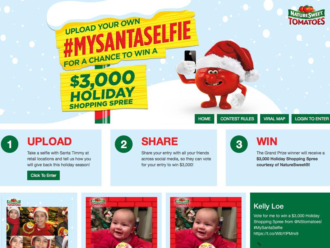 "Nature Sweet ""My Santa Selfie"" Photo Upload Contest"