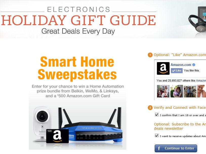 Amazon.com Smart Home Sweepstakes