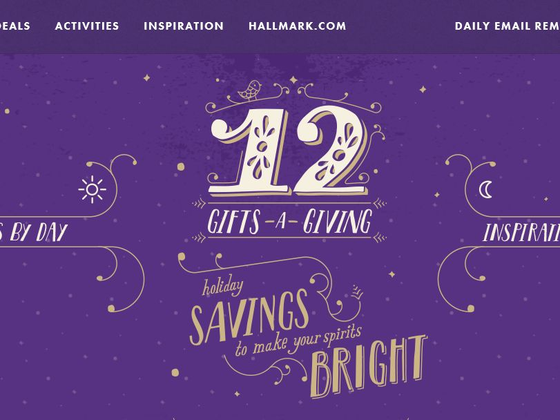 Hallmark's 12 Gifts-A-Giving Opt-In Sweepstakes