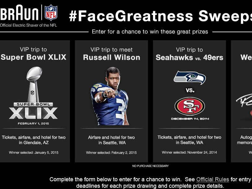 The Braun #FaceGreatness Sweepstakes