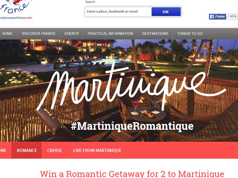 Rendezvous France Meet Martinique Sweepstakes