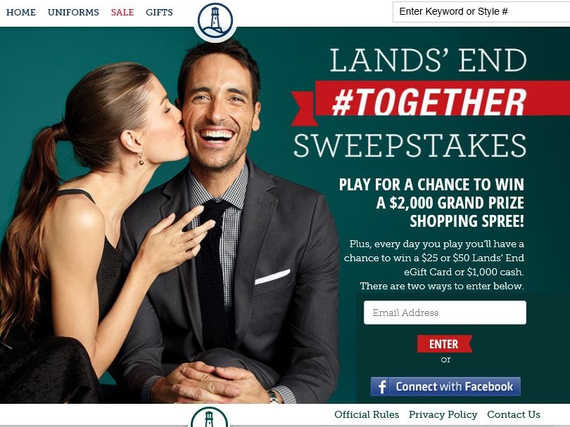 Land's End #Together Sweepstakes