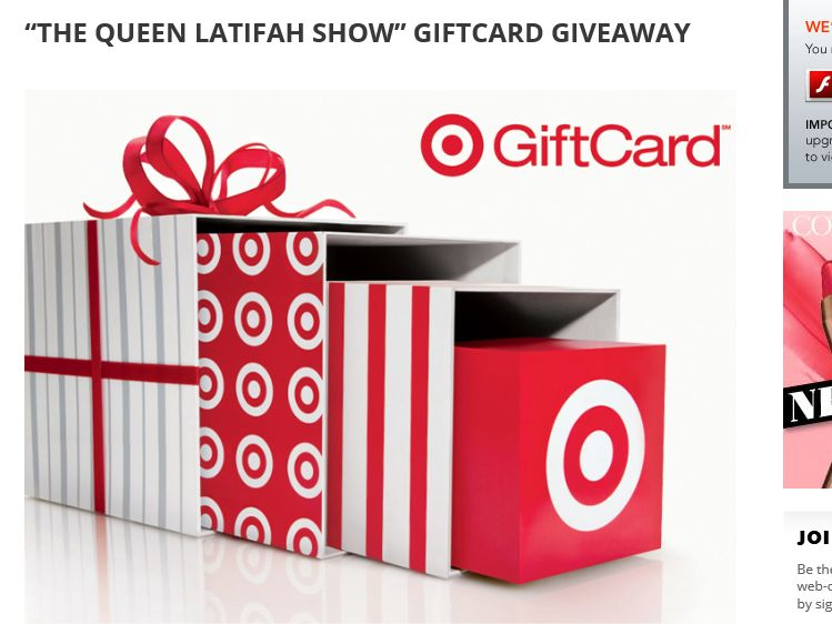 The Queen Latifah Show GiftCard Giveaway
