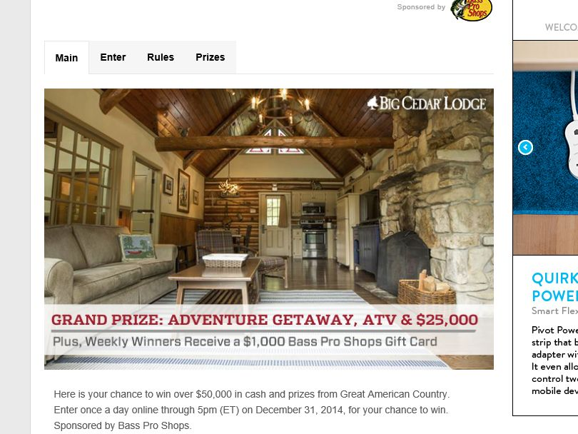 Great American Country's American Outdoor Adventure Sweepstakes