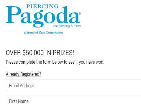 Piercing Pagoda Holiday Instant Win Sweepstakes
