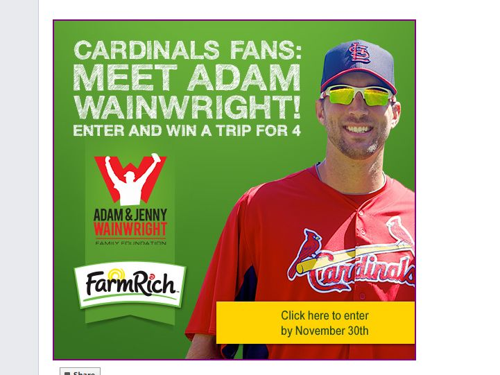 Farm Rich Adam Wainwright Sweepstakes