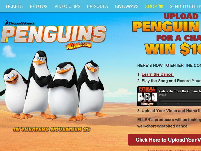 Ellentube's Penguins of Madagascar Contest