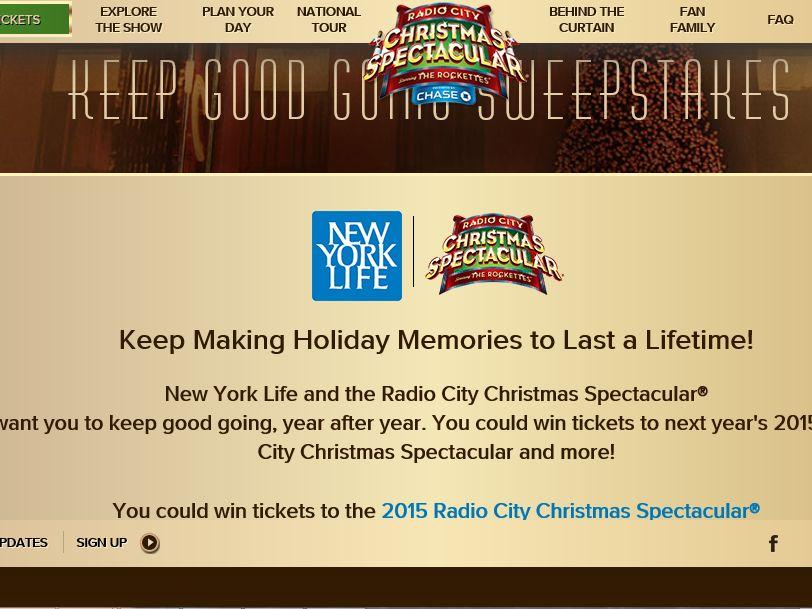 NY Life Keep Good Going Sweepstakes