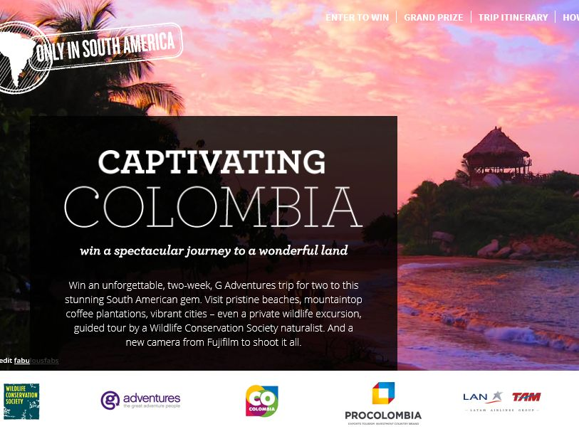 LATAM Airlines Captivating Colombia Sweepstakes
