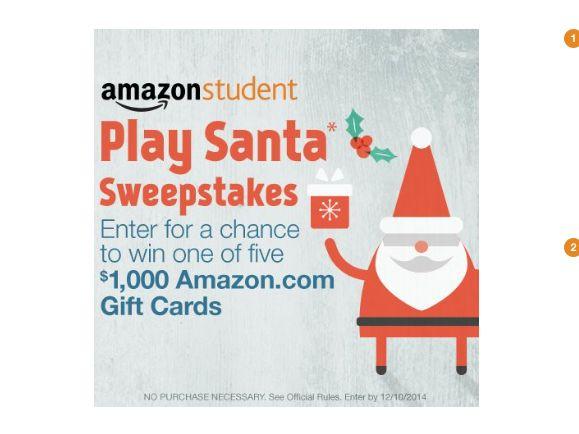 Amazon Student Play Santa Sweepstakes