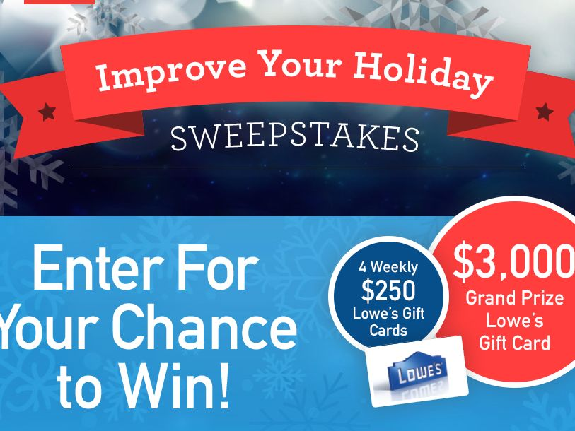 ESPN Radio & Lowes Improve Your Holiday Sweepstakes