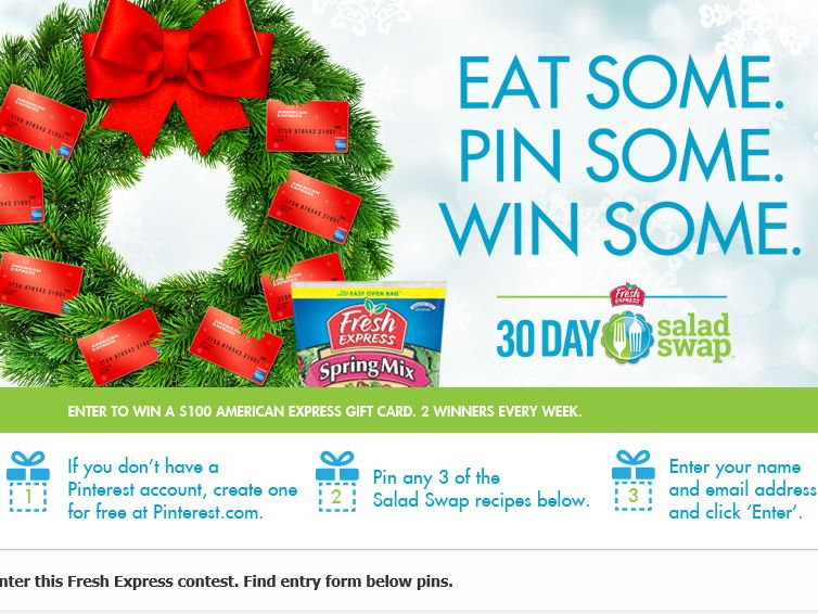 Fresh Express Salad Swap Sweepstakes
