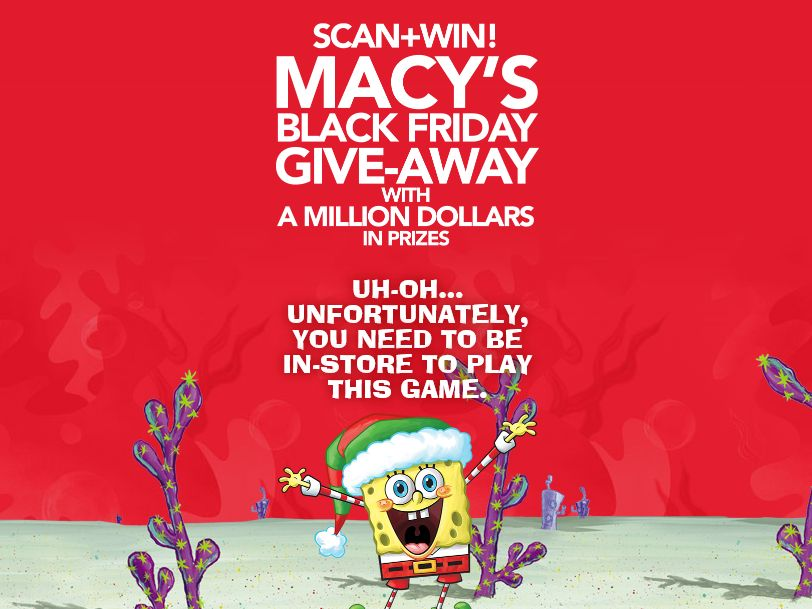 Macy's Black Friday Give-Away Sweepstakes