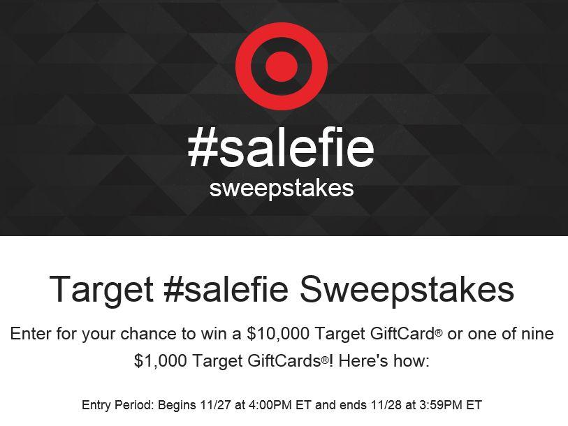 Target #salefie Sweepstakes